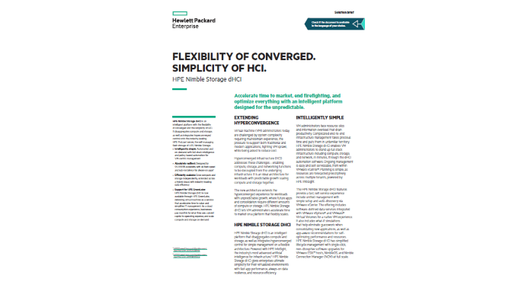 HPE Nimble Storage dHCI whitepaper